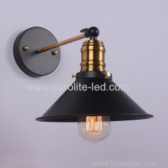 euroliteLED Industrial Swing Arm Wall Sconce Simplicity 1 Light Wall Lamp