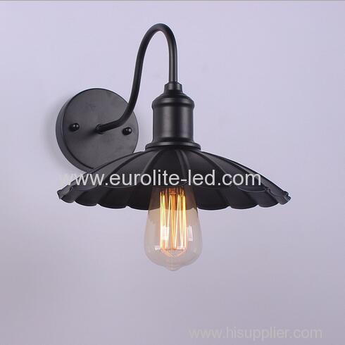 euroliteLED Vintage Industrial Retro Wall Light Sconce Modern Cage Wrought Iron Diameter 25CM Lotus Leaf Wall Lamp