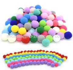 Fluffy Soft Pompom Balls Handmade Kids Toys Wedding Decoration DIY Pom Poms Felt Ball Sewing Craft Supplies