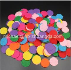 Non-Woven Felt Fabric Eco-friendly Round Felt Patch for DIY Handcraft Kids Gift Doll Hair Clip Sewing Fabric Supplies