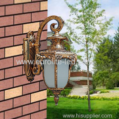 euroliteLED Bronze Waterproof Outdoor Wall Lamp Antique Aluminum Metal Gate External Glass Lantern Wall Sconce