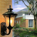 euroliteLED Black Retro European Outdoor Wall lamp Aluminum Waterproof Anti-Rust Wall lamp Corridor Light Model A Small