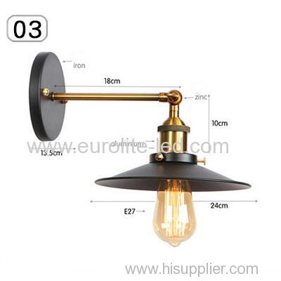 euroliteLED Industrial Vintage Wall Lamp Fixture Simplicity Arm Swing Wall Lights(Model 3)