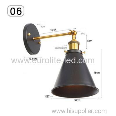 euroliteLED Industrial Vintage Wall Lamp Fixture Simplicity Arm Swing Wall Lights(Model 6)