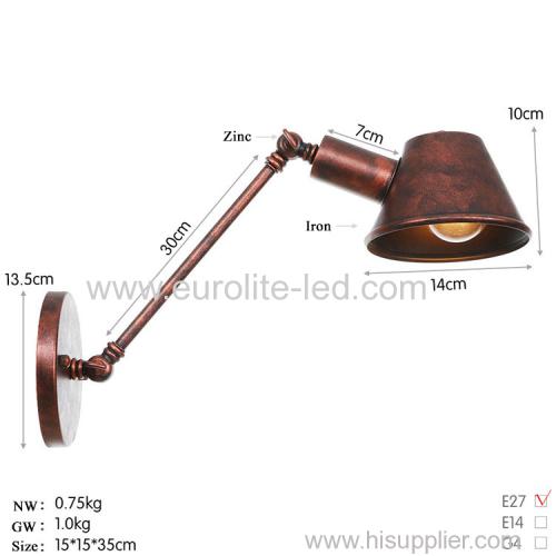 euroliteLED Wall Sconce Swing Arm Angle Adjustable Swing Arm Retro Vintage Wall Mount Light Sconces Wall Lamp(Model 4)