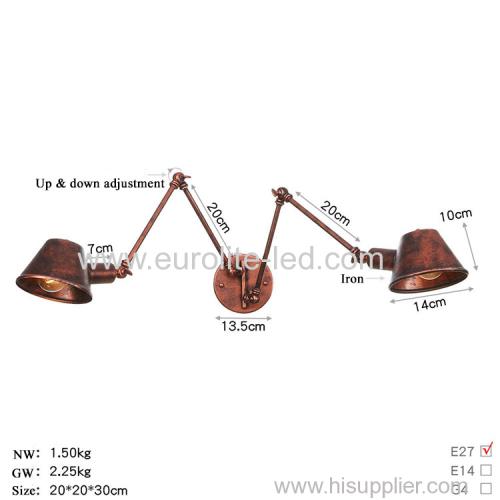 euroliteLED Wall Sconce Swing Arm Angle Adjustable Swing Arm Retro Vintage Wall Mount Light Sconces Wall Lamp(Model 6)