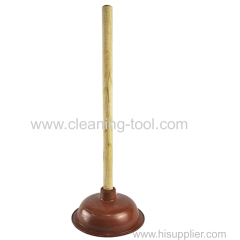 Wooden handle sink plunger Toilet Drai Unblock Plunger