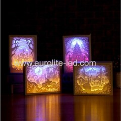 Led Paper Carving Romantic Frame Soft Holiday Room Decoration Light Night