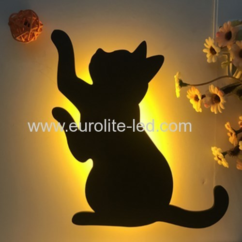 Led Acrylic Silhouette Cute Interesting Animals Room Table Decoration Night Light