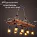 euroliteLED Novely Pendant Light Iron Glass Wood LOFT Retro Industrial Chandeliers(Ladder Shape)