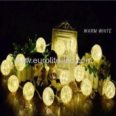 Led Lace Fabric Ball String Battery 1.5m 10Leds Wedding Holiday Party Decoration Night Light