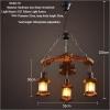 euroliteLED Novely Pendant Light Iron Glass Wood LOFT Retro Industrial Chandeliers(Anchor Shape)