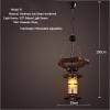 euroliteLED Novely Pendant Light Iron Glass Wood LOFT Retro Industrial Chandeliers(Moon Ring Shape)