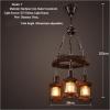 euroliteLED Novely Pendant Light Iron Glass Wood LOFT Retro Industrial Chandeliers(Moon Ring)