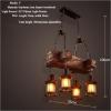 euroliteLED Novely Pendant Light Iron Glass Wood LOFT Retro Industrial Chandeliers(Keel Shape)