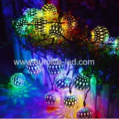 Led Hollow Out Morocco Ball Romantic 8 Modes Holiday Room Decoration Night Light