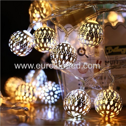 Led Solar PoweredHollow Out Morocco Ball Romantic 8 Modes Holiday Room Decoration Night Light