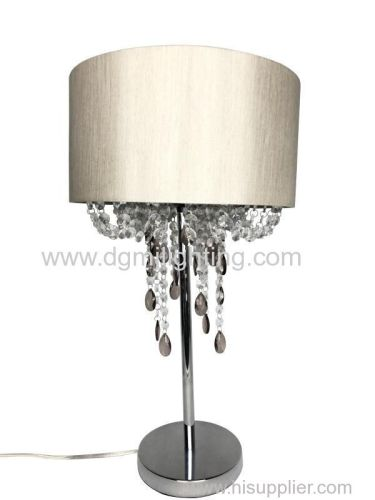 Acrylic Table Lamp with gold shade