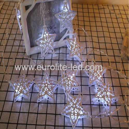 Led Hollow Star Iorn String USB Cute Holiday Room Garden Decoration Night Light