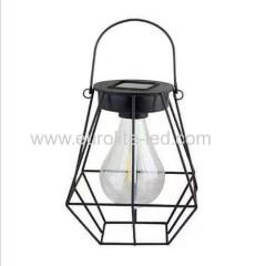 Led Solar Powered Diamond Iron Outdoor Garden Decoration Hand Lamp