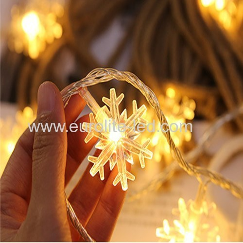 Led Snow String Battery Outdoor Holiday Christmas Party Decoration Night Light