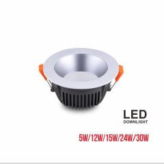 euroliteLED Grey 5W 12W 15W 24W 30W SMD LED Downlight 3000K-6500K IP20