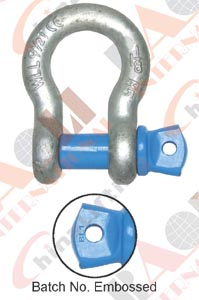 US TYPE HIGH TENSILE FORGED SHACKLE G209 S209 21158 21159 21160 21161 21162 21163 21164 21165 21166 21166A 21167