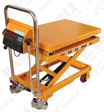 HAND-HYDRAULIC TABLE TRUCK WITH SCALE