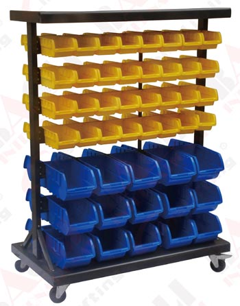 MOBILE SIDED PARTS BOX CARTS
