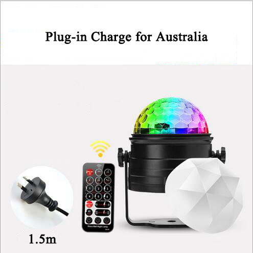 euroliteLED Mini Dj Disco Ball Party Stage Lights 7 Colors Remote Control Sound Activated(for Australia)