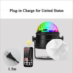 euroliteLED Mini Dj Disco Ball Party Stage Lights 7 Colors Remote Control Sound Activated(for United States)