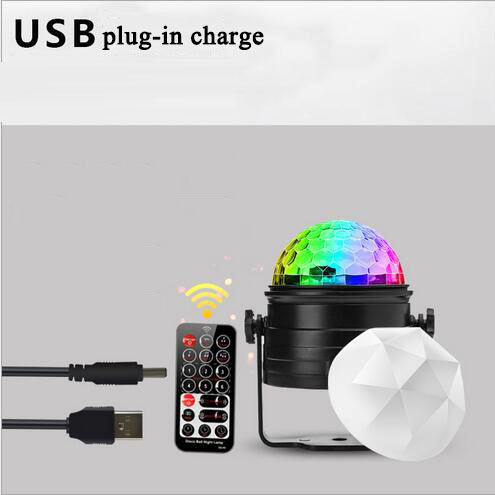 euroliteLED USB Mini Dj Disco Ball Party Stage Lights 7 Colors Remote Control Sound Activated