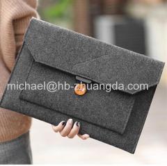 Fashion Wool Felt Laptop Sleeve Bag Notebook Handbag