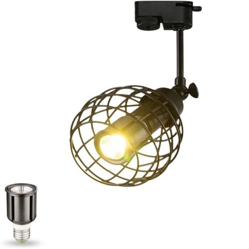 euroliteLED Adjustable LED Retro Track Spotlight Long Pole Spotlight (Single Heads)