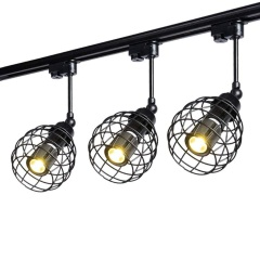 euroliteLED Adjustable LED Retro Track Spotlight Long Pole Spotlight (Three Heads)