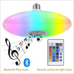 euroliteLED 30W Smart Light Bulb LED Bluetooth Speaker UFO Bulb Romote Control Stepless Dimming RGBW Music Bulb