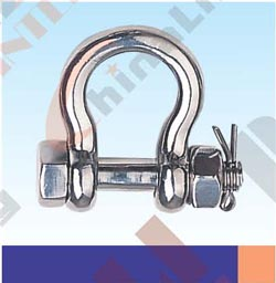 S.S. ROUND PIN SAFETY ANCHOR SHACKLE U. S TYPE AISI:304 or 316