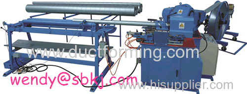 automatic cutting spiral tube former machine