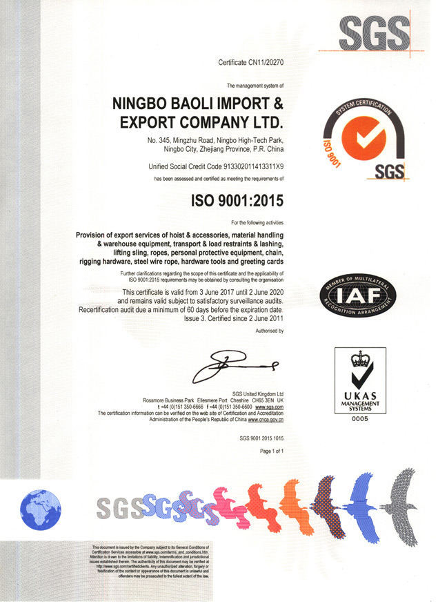 ISO9001 SGS