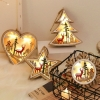 Led Wooden Snow Heart Star Tree Christmas Deer Decoration Holiday Party Room Decoration Night Light