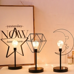 Led Classic Modern Wrought Iron Frame Table Lamp 4 Kinds Of Modelling Decoration Table Light