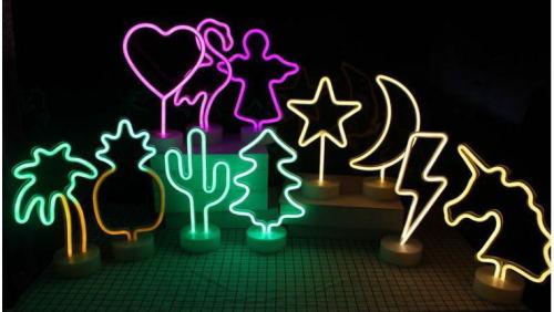 Led Neon moon Night Light Fevistal Holiday Decration Light