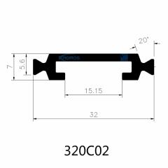 32mm Eurogroove Polyamide Strips for Thermally Insulated Aluminium Windows & Doors