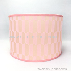 Velvet lamp shade with light pink