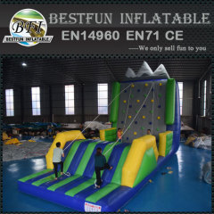 Inflatable rock wall climbing mountain