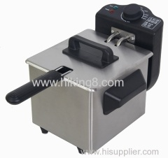 1.5L electric SUS deep fat fryer with temperature control