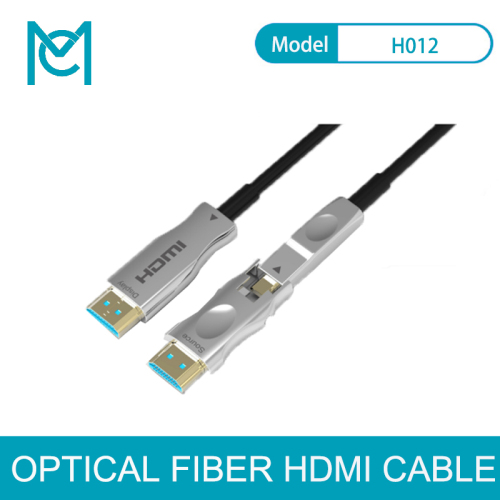 MC Fiber Optic HDMI 2.0 Cable 4K HDR Micro HDMI Male D Type and Standard Single-Head Split Active Fiber Cable