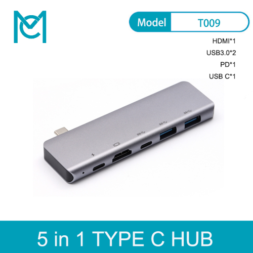 "MC 7 in 1 USB C Hub for MacBook Pro 13 15"" Adapter Duo Type C 5Gbps PD 4K HDMI microSD/SD Metal USB Hub"
