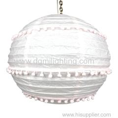 D350MM Round pink paper lanterns