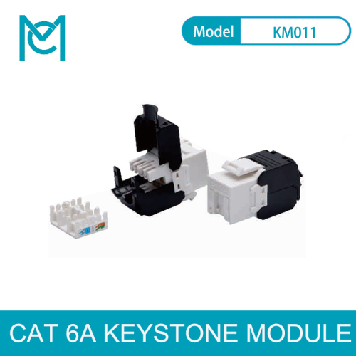 MC CAT 6A Keystone Jack Unshielded 500 MHz without Dust Cover